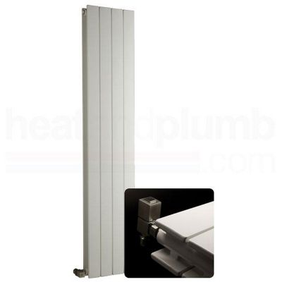 DQ Heating BPV White Vertical Radiator 1800mm High x 827mm Wide (11 Sections)
