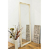 Large Ivory Shabby Chic Ornate Big Wall Mirror Bargain 6Ft6 X 2Ft6 198cm X 75cm