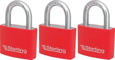 Sterling Aluminium Padlocks - 40mm Pack of 3