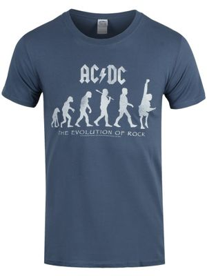 AC/DC Evolution Of Rock Pacific Blue Men's T-shirt
