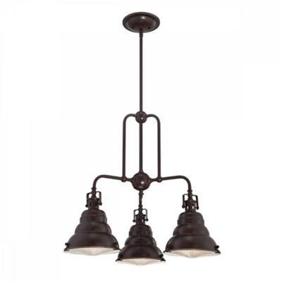 Palladian Bronze 3lt Chandelier - 3 x 60W E27