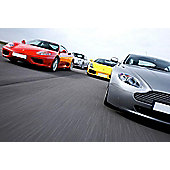 Four Supercar Driving Blast with Passenger Ride - Weekdays