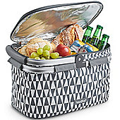 VonShef 22L Picnic Cooler Bag Hamper - Grey