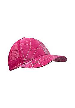 Zakti Girls Kimberly Wyatt Kids Pick Me Up Trucker Cap with Geometric Print - Pink