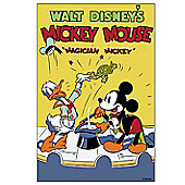 Disney Magician Mickey 1937 Canvas Print Wall Art