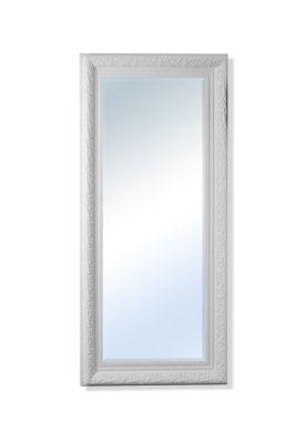 Bevelled Elegant Hand Made Large White Ornate Mirror 5Ft10x2ft10 (177Cmx86cm)