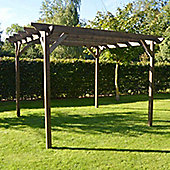 Garden Pergola 2.4m x 2.4m - Chamfered Rafter End