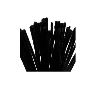 Craft Factory Black Chenilles 30cm x 12mm