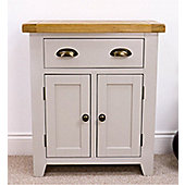 Arklow Painted Grey Small Oak Sideboard / Oak 2 Door 1 Drawer Sideboard