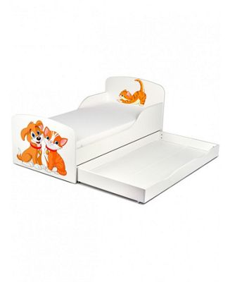 PriceRightHome Cat and Dog Toddler Storage Bed & Fully Sprung Mattress