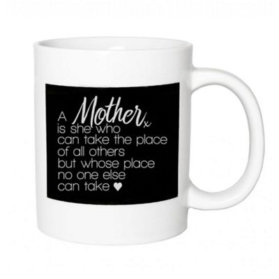Thoughtful and Original Ceramic Gift Mug with 'Mother's Place' Quote