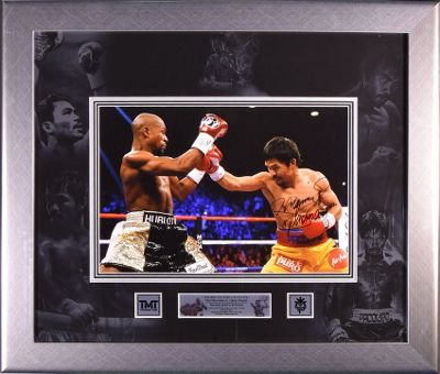 Signed Manny Pacquiao Framed Large Photo - Pacman v Mayweather