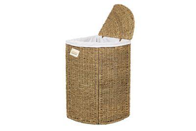 Woodluv Seagrass Corner Storage Laundry Basket