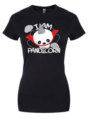 I Am Pandicorn Women's T-shirt, Black.