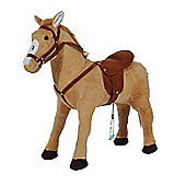 Homcom Kids Cuddly Toy Standing Horse Fun Traditional Gift w/ Neigh Sound