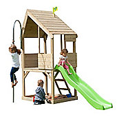 TP Toys Chalet Wooden Playhouse and 6FT Slide