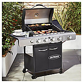 Outback Solis 4 Burner Gas BBQ with Side Burner and Cover