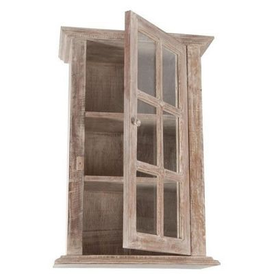 Papa Theo Wall Cabinet with Glass Front - Natural Limed