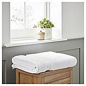 Fox & Ivy Egyptian Cotton White Bath Sheet