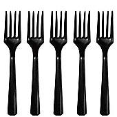 Black Plastic forks - 20 Pack