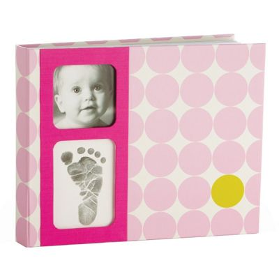 Pearhead BabyPrints Photo Album Dots Pink