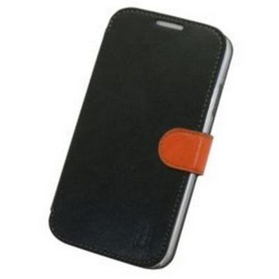 Tortoise™ Look Faux Leather Folio Case Samsung Galaxy S4 Black