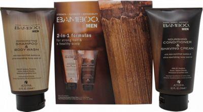 Alterna Bamboo Men Gift Set 250ml Shampoo & Body Wash + 250ml Conditioner & Shaving Cream