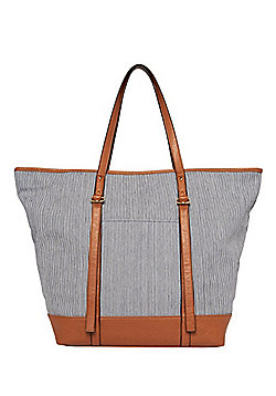 F&F Striped Canvas Tote Bag