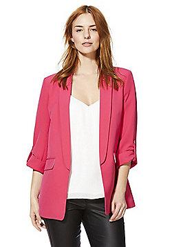 F&F Open Front Girlfriend Blazer - Hot pink