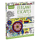 Crayola Adult Colouring Elegant Escapes Coloring Book