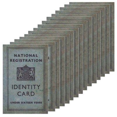 15 x WW2 Replica Children's ID Card - Teaching Aids or Props