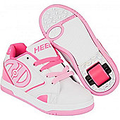 Heelys Propel 2.0 White/Hot Pink/Light Pink Kids Heely Shoe UK 4
