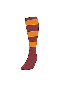 Precision Training Club Weight Stretch Nylon Hooped Football Socks - Raspberry