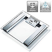 Beurer BG39 Glass Diagnostic Bathroom Scale│Large Digital Display│BMR+AMR│BF│