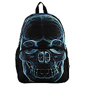 Banned Blue Skeleton X-Ray Black Backpack