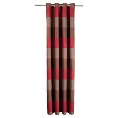 Tesco Stripe Taffeta Lined Eyelet Curtains W163xL229cm (64x90
