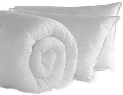 Anti Allergy Single Duvet 13.5 Tog Polycotton Anti Allergy Hollowfibre Pillow Pair