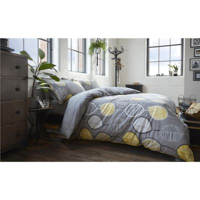 Racing Green Wardley Grey Duvet Cover Set - Single