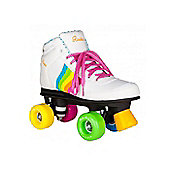 Rookie Forever Rainbow Quad Roller Skate - Rainbow White Size 6