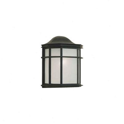 Nartel 23cm x 21cm Flush Wall Lantern in Black
