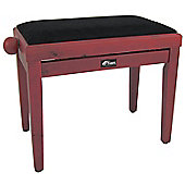 Tiger Classic High Gloss Red Wood Adjustable Piano Stool