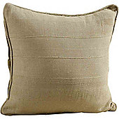 Homescapes Cotton Rajput Ribbed Beige Cushion, 60 x 60 cm