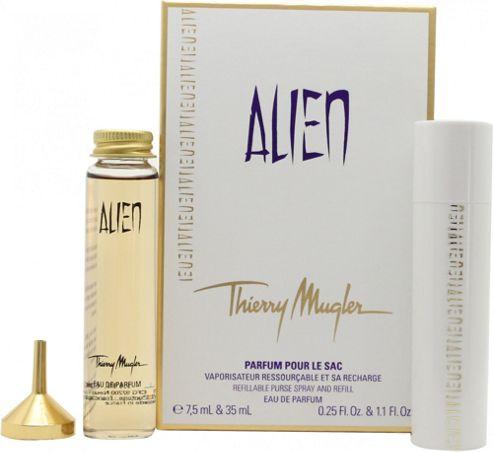 Thierry Mugler Alien Gift Set 7.5ml EDP Refillable Purse Spray + 35ml EDP Refill For Women