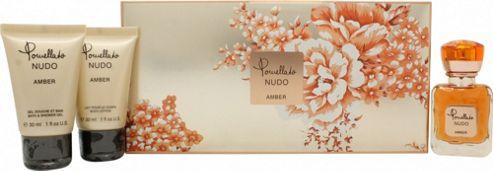 Pomellato Nudo Amber Gift Set 25ml EDP + 30ml Shower Gel + 30ml Body Lotion For Men
