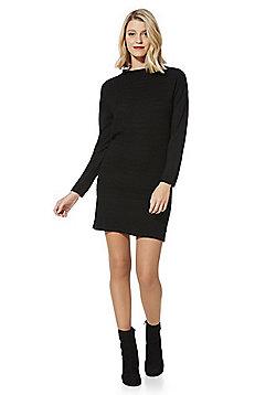 JDY Ottoman Rib Jumper Dress - Black