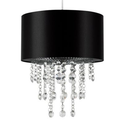 MiniSun Jesmond Droplet LED Ceiling Pendant Light Shade - Black - ES E27
