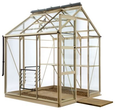 Rhino Premium Greenhouse – 6x6 - Antique Ivory Finish