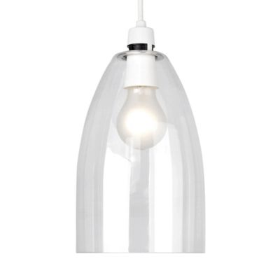 Modern Clear Glass Ceiling Pendant Light Shade