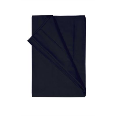 Belledorm Egyptian Cotton 200 Thread Count Black Flat Sheet - Super King