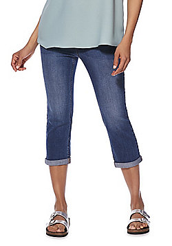 F&F Mid Rise Cropped Jeans - Mid Wash